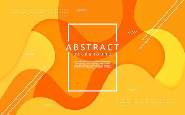 抽象的なオレンジ色の動的背景デザイン