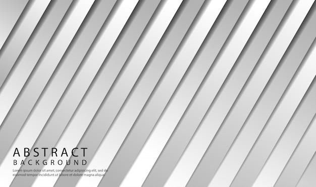 幾何学的な白とグレーのグラデーションカラーで抽象的な背景。斜めの形でモダンな背景スタイル
