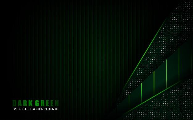 Современный темно-зеленый абстрактный фон перекрытия слоя с блестками многоточия украшения элемента