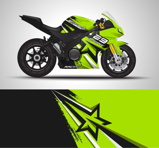 Спортивный мотоцикл для мотоспорта и виниловых наклеек