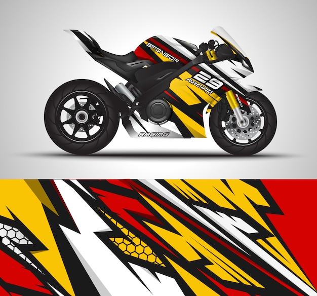 Гоночный спортивный велосипед обернуть наклейка и виниловые наклейки иллюстрации
