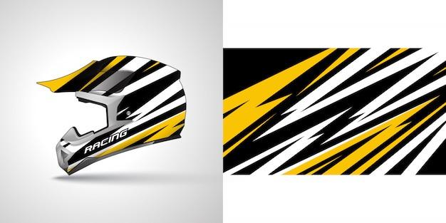 Иллюстрация обертывания гоночного шлема
