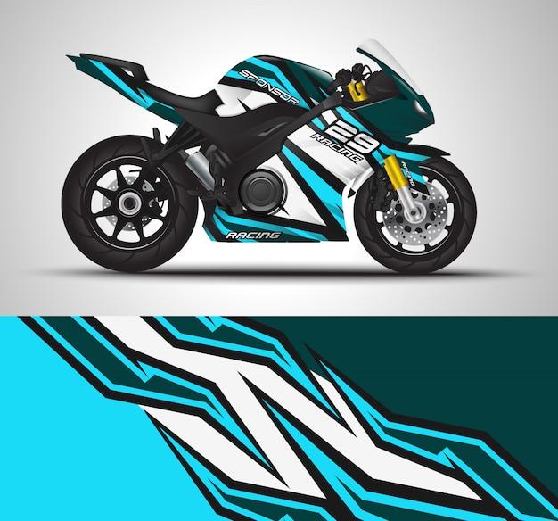 オートバイラップデカールとビニールステッカー