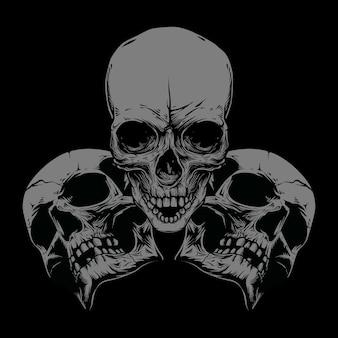 解剖学的詳細な人間の頭蓋骨