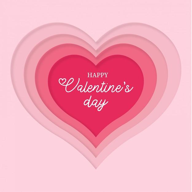 バレンタインデーのためのペーパーカットの心