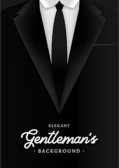 Фон элегантного джентльмена с набором деловой человек