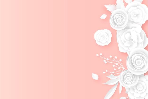 柔らかい色を背景にエレガントな花の境界線