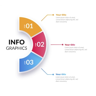 手順を持つモダンなカラフルなインフォグラフィック