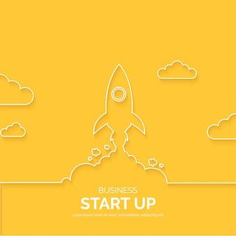 モダンなビジネスラインの背景を開始