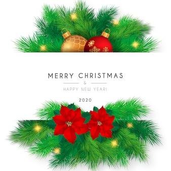美しいメリークリスマスカードテンプレート