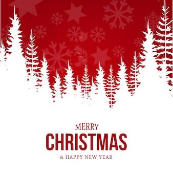 クリスマス風景のグリーティングカードとモダンなカード