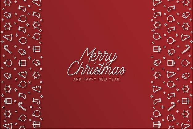 美しいメリークリスマス赤バナー