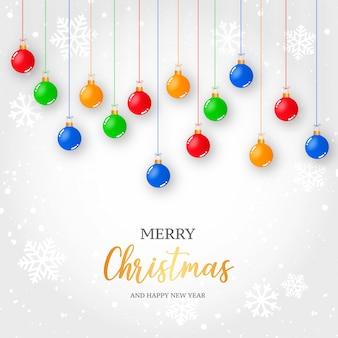 メリークリスマスと新年あけましておめでとうございます背景テンプレート