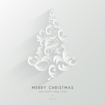 装飾品でかわいいメリークリスマスの背景
