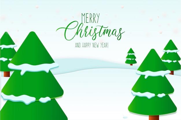 エレガントなメリークリスマスカードテンプレート