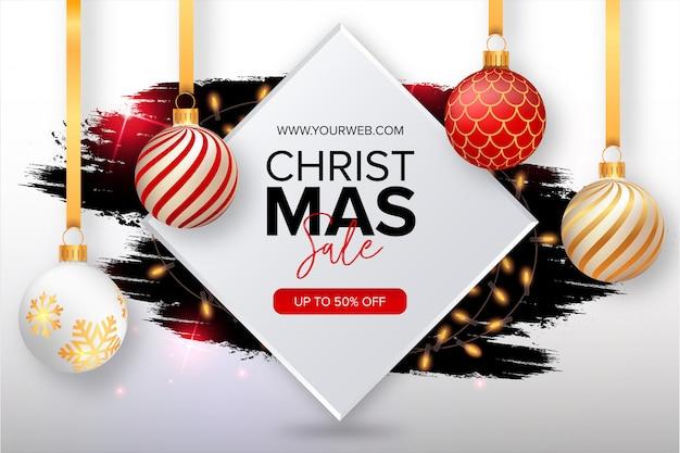 Симпатичные рождественские продажи баннер с всплеск