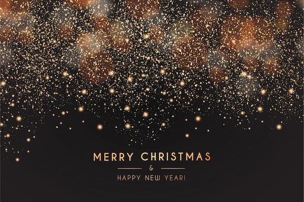 現代のメリークリスマスと幸せな新年の背景