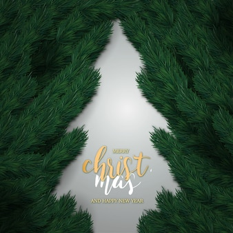 Реалистичная с рождеством и новым годом