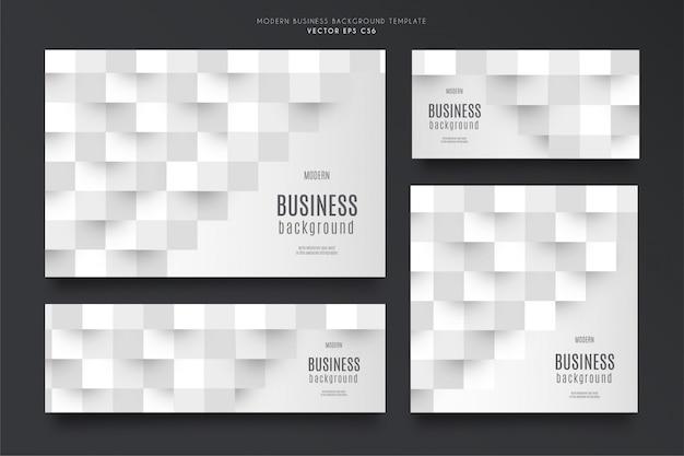 Современный бизнес фон шаблона пакета