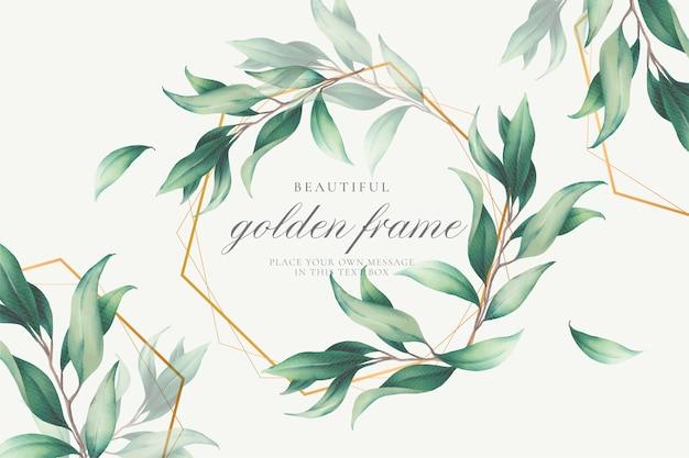 Элегантная цветочная рамка с полевыми листьями