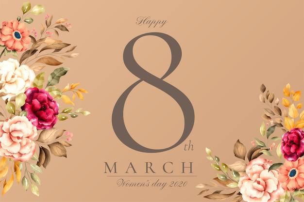Красивый цветочный женский день фон