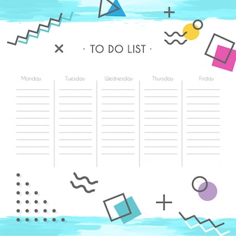 Расписание школьного шаблона