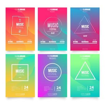 Абстрактные шаблоны плакатов для музыки