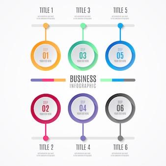 カラフルなビジネスインフォグラフィック要素