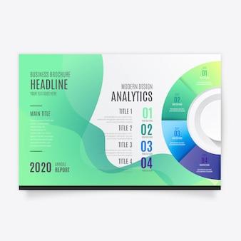 インフォグラフィックを備えた最新のパンフレットテンプレート