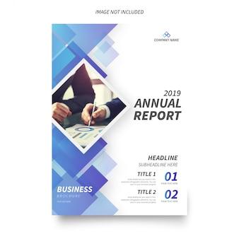 現代の年次報告書パンフレットテンプレート