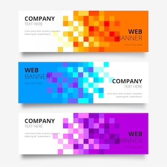 Абстрактная коллекция веб-баннеров