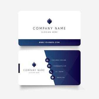 Современная визитная карточка с градиентными формами