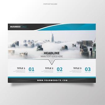 現代デザインのビジネスパンフレットテンプレート