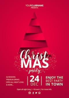 Элегантный шаблон рождественского плаката