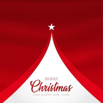 抽象的なツリーとエレガントなクリスマスの背景