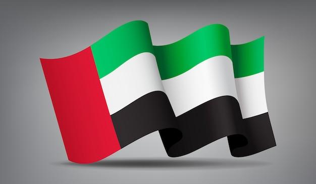 Размахивая флагом объединенных арабских эмиратов