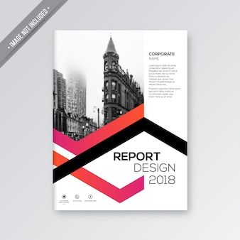 ピンクと白の企業のパンフレット