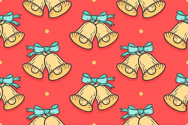 メリークリスマスのシームレスパターン
