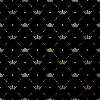 Бесшовные с золотыми королями короля