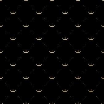 王冠とのシームレスなパターン