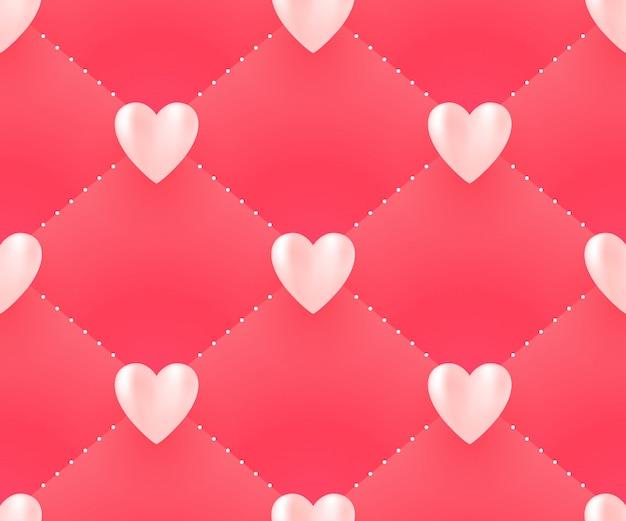 バレンタインデーのための心とのシームレスなパターン