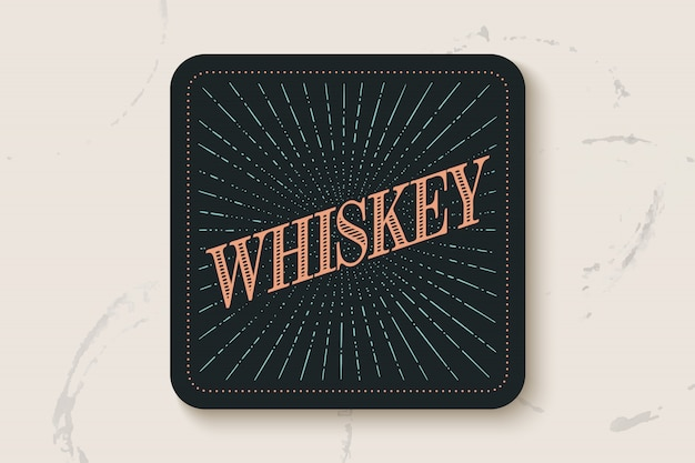 碑文ウィスキーと飲料コースター