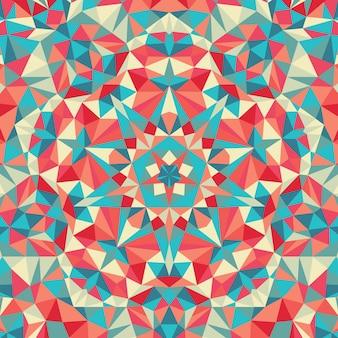 万華鏡の幾何学的なカラフルなパターン。抽象的な背景