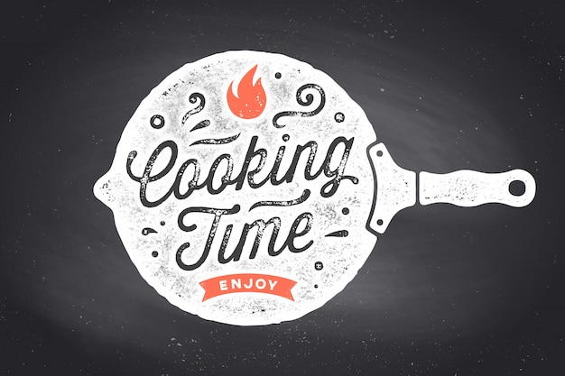 調理時間。キッチンのポスター。キッチンの壁の装飾、サイン、見積もり