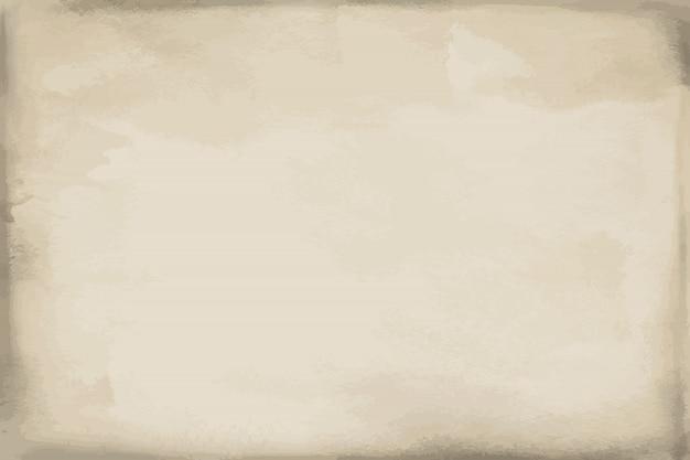 グランジベージュ紙水彩テクスチャ、背景、表面