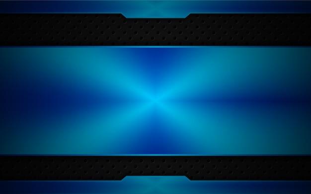暗い背景に抽象的な青い光
