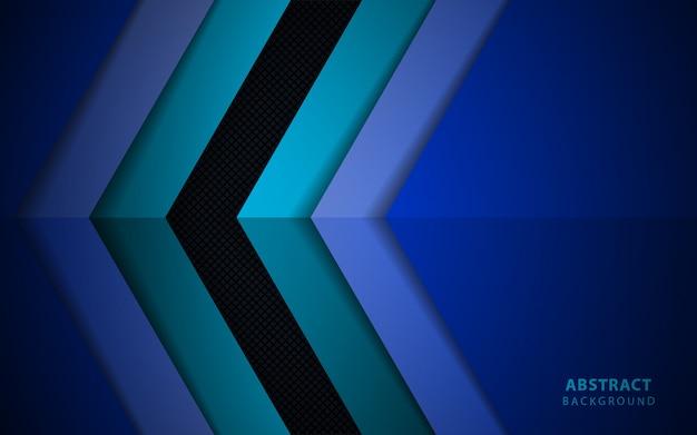 抽象的な暗い青色の紙のオーバーラップの背景