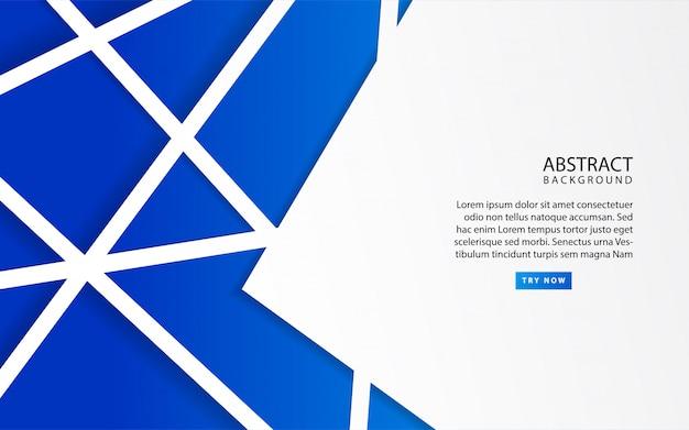 青色の背景に抽象的な白いフレーム
