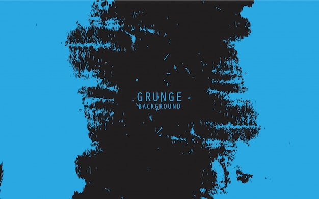 青いグランジと黒の抽象的な背景