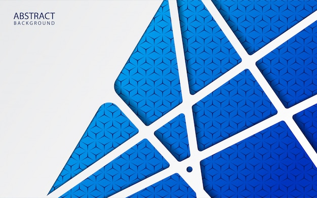 Абстрактная белая бумага на синем фоне